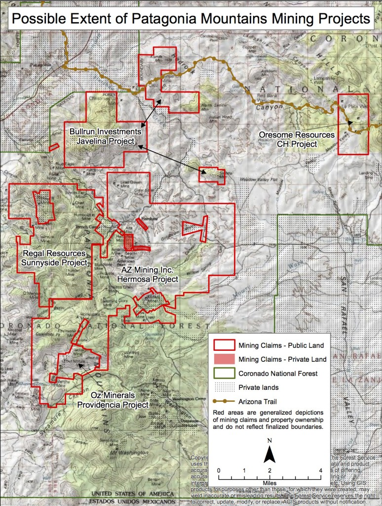 Patagonia Area Mining Claims on Coronado National Forest