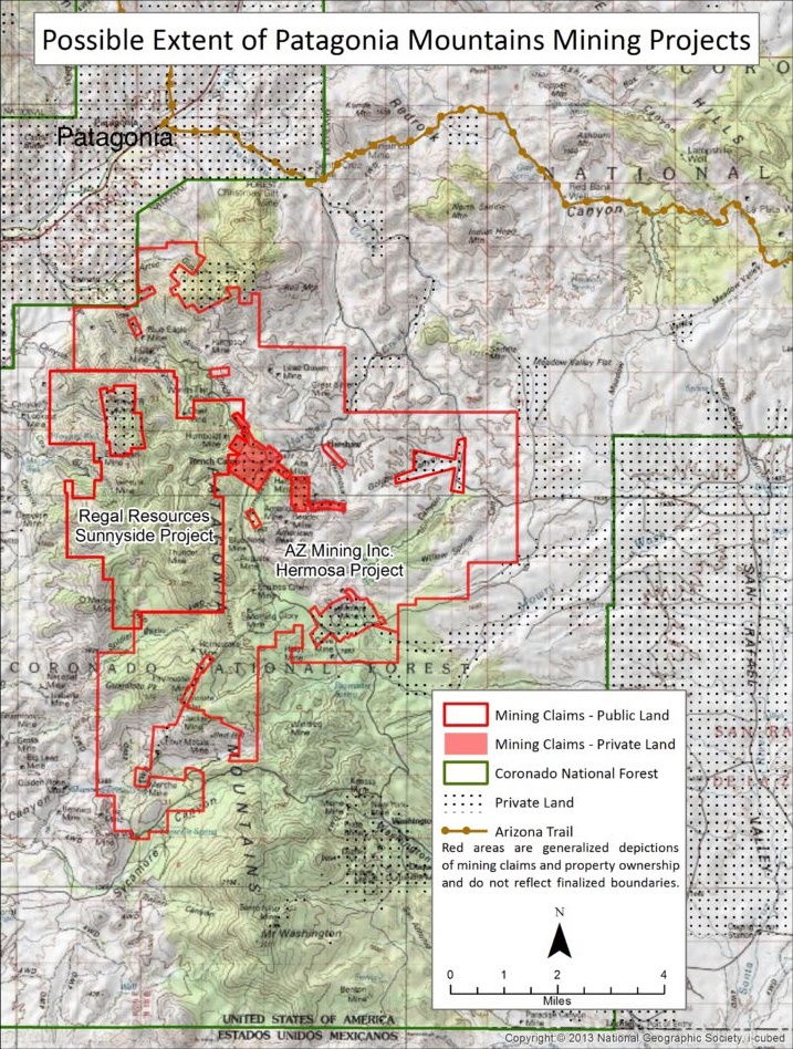Map Of Arizona Public Lands.Our Concerns Patagonia Area Resource Alliance
